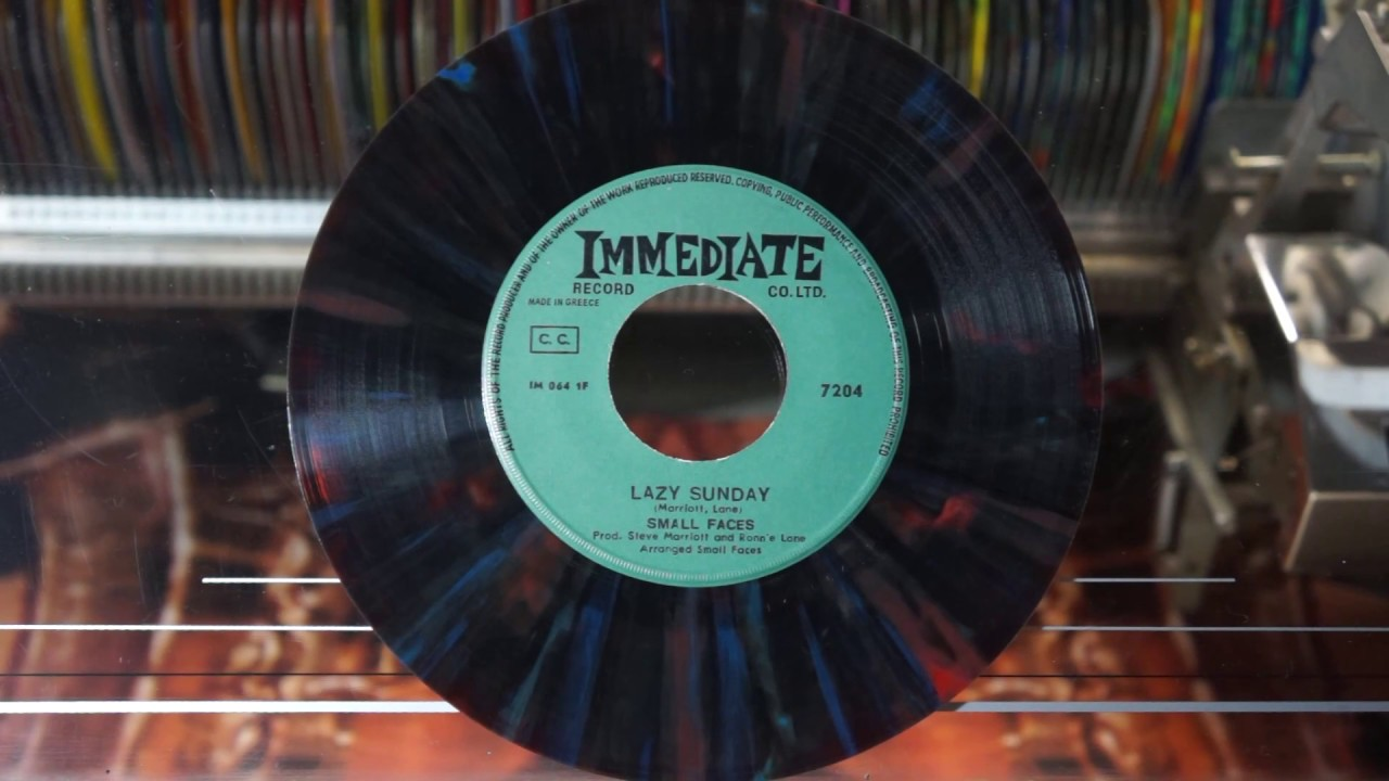 Jonnie's Jukebox Plays: Lazy Sunday - Small Faces 1968 Multicolour 45rpm Record