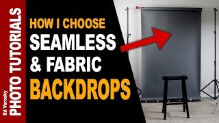 SEAMLESS BACKGROUNDS & FABRIC BACKDROPS -- How I Choose Mine