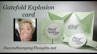 Gatefold Explosion card