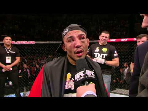 UFC 179: Chad Mendes and Jose Aldo Octagon Interviews