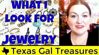 Jewelry - What I Look For at Thrift Stores & Garage Sales - Selling Jewelry on Ebay and Etsy