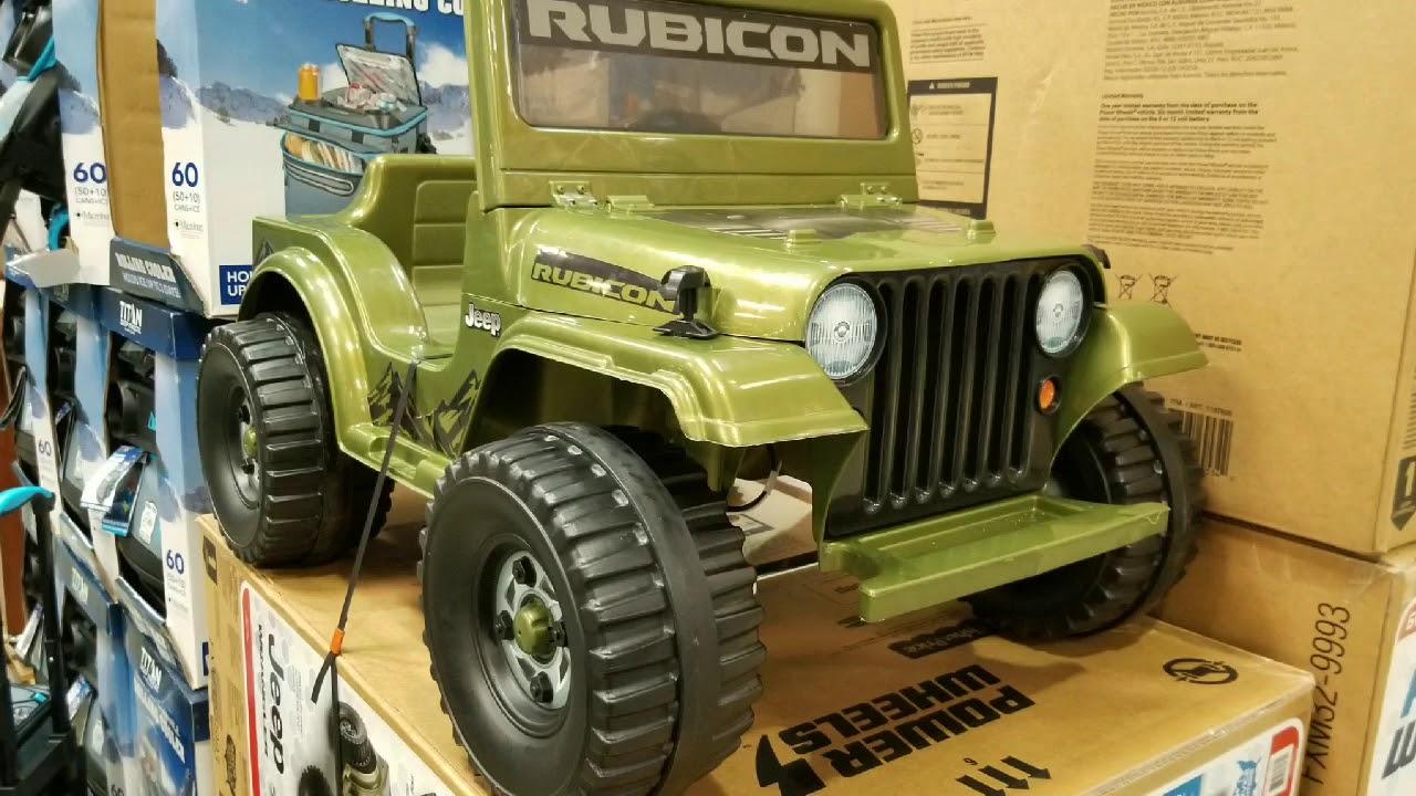 Costco Power Wheels Jeep Rubicon 6 Volt Ride On 119 Youtube