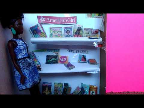 How to Make a Doll library/Book store