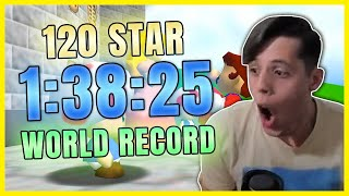 [WORLD RECORD] Super Mario 64 120 Star Speedrun in 1:38:25 by Cheese