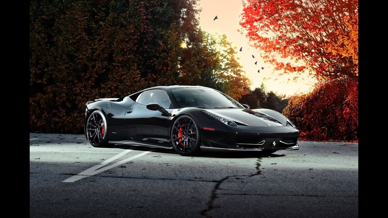 The Beauty Of Black Ferrari Sport Car