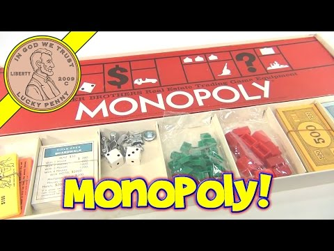 Monopoly Vintage Board Game, 1973 Parker Brothers - Real Estate Trading Game Equipment