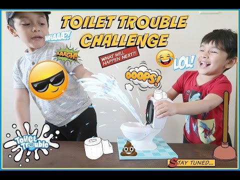Toilet Trouble Challenge & Shopping At Toys