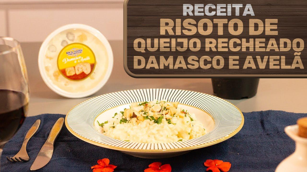 Risotto Bom da Fazenda (com queijo Recheado Damasco e Avelã)