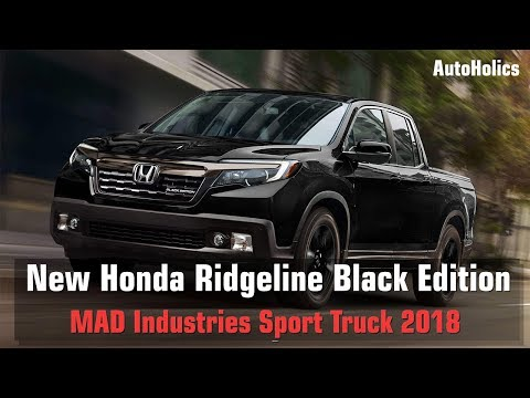New Honda Ridgeline Black Edition - MAD Industries Sport Truck 2018