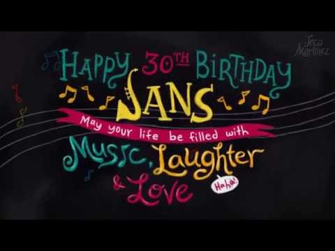 Music, Laughter, and Love - Jans' Birthday eCard