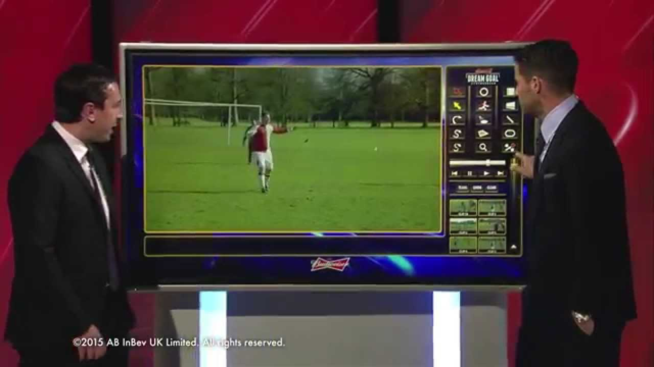Gary Neville and Jamie Redknapp analyse 'Sunday league goal' with Sky technology