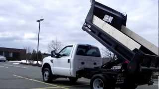 2008 Ford F350 XL 9ft Rugby Mason Dump Truck 4x4 4WD 6.4L Powerstroke Diesel AC