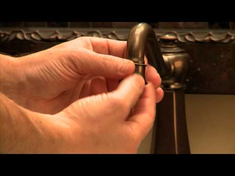 how to install a water saving aerator in your moen bathroom faucet