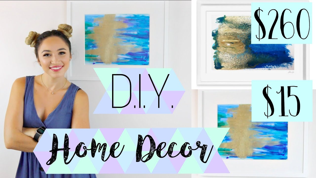 D i y home decor abstract painting wall art alexandra for Alexandra decoration biarritz