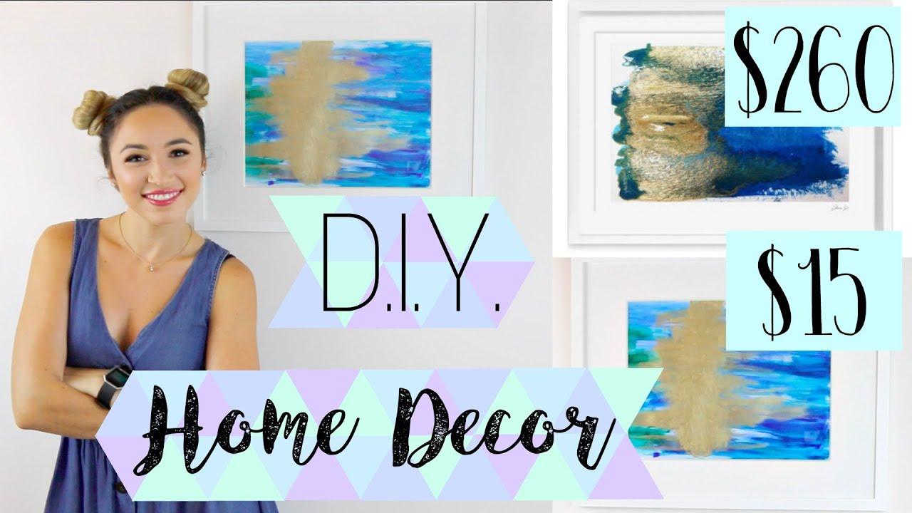 d i y home decor abstract painting wall art alexandra