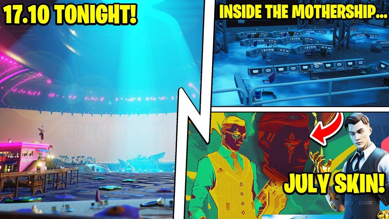 1ST Update Tonight: JULY Crew Skin, Mothership Vault, RIP Coral!
