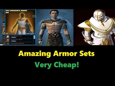 SWTOR: Top 10 Armor Sets For Under 1 Million Credits (2017)