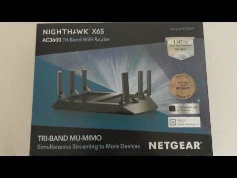 Netgear Nighthawk X6S AC3600 Tri-Band WiFi Router COSTCO SETUP