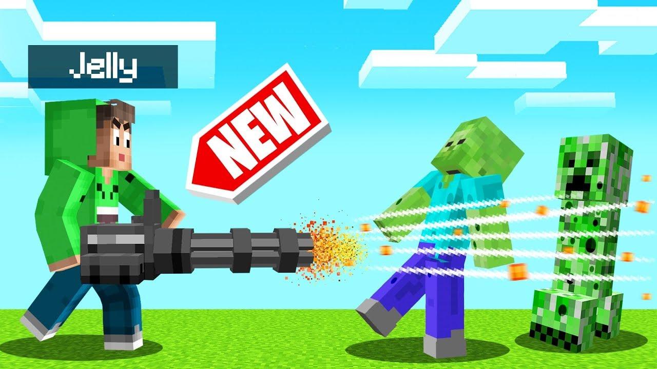 *NEW* OVERPOWERED GUNS In MINECRAFT! (Insane)