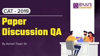 CAT 2019 Answer Key (Slot 2) | Quantitative Aptitude | Question Discussion with Solution