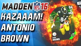 Madden 16 Ultimate Team - 24HR ANTONIO BROWN! EAGLES WIN! - MUT 16