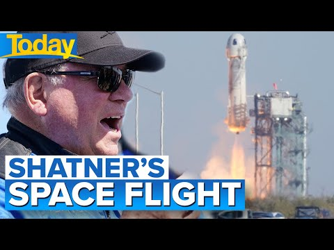 William Shatner becomes oldest person to go to space at age 90 | Today Show Australia