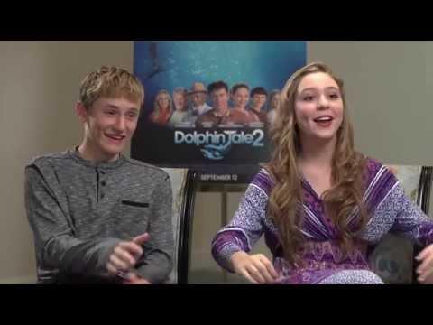 DOLPHIN TALE 2 Interview - Nathan Gamble & Cozi Zuehlsdorff