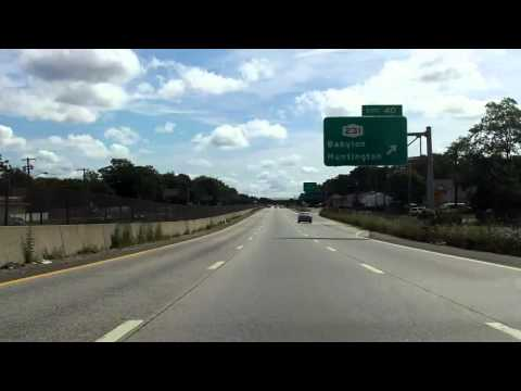Sunrise Highway (NY 27 Exits 37 to 43) eastbound