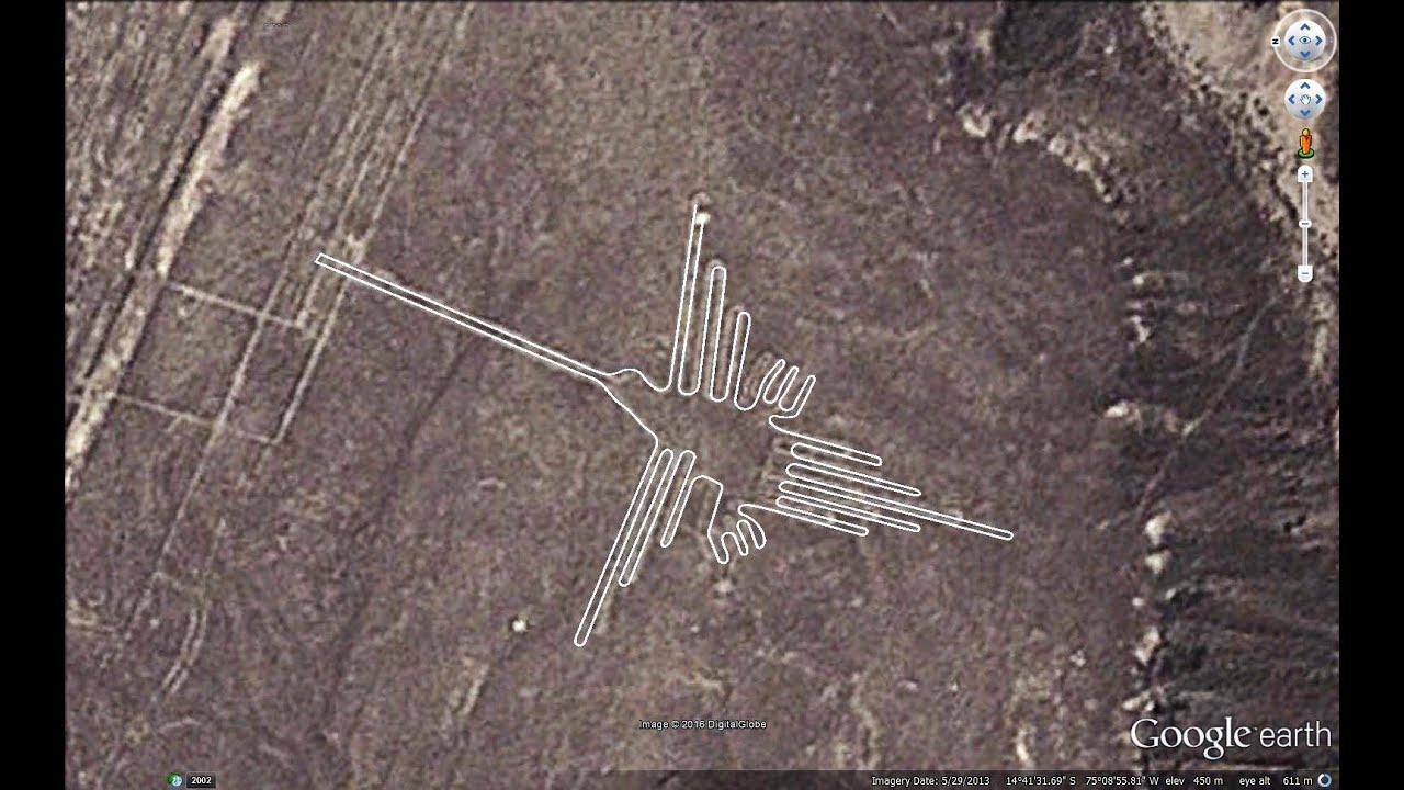Drawing Lines Google Maps : Nazca lines in google earth youtube