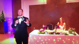"""Groom surprises bride and sings U2's """"All I Want is You"""" on wedding day!"""