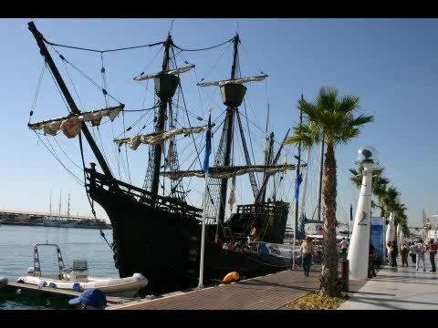 THE SHIP NAO VICTORIA IN ALICANTE PORT