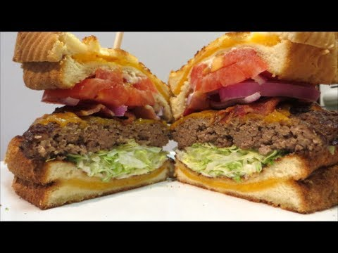 Grilled Cheese Cheeseburger Double Grilled Cheese Cheeseburger Recipe