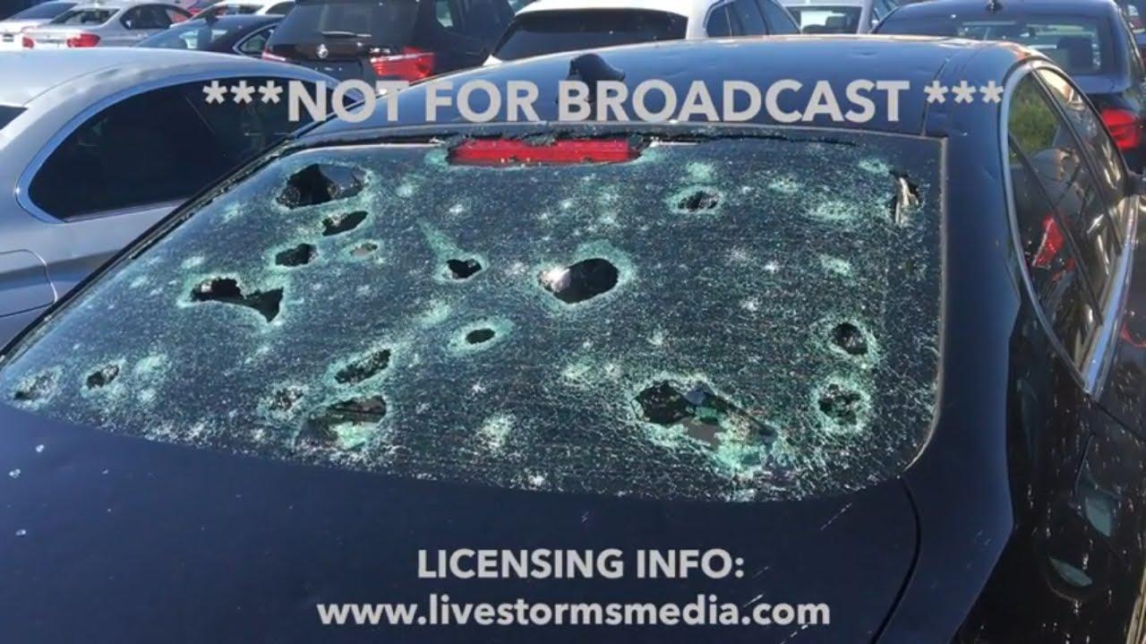 Full San Antonio Hail Damage - YouTube