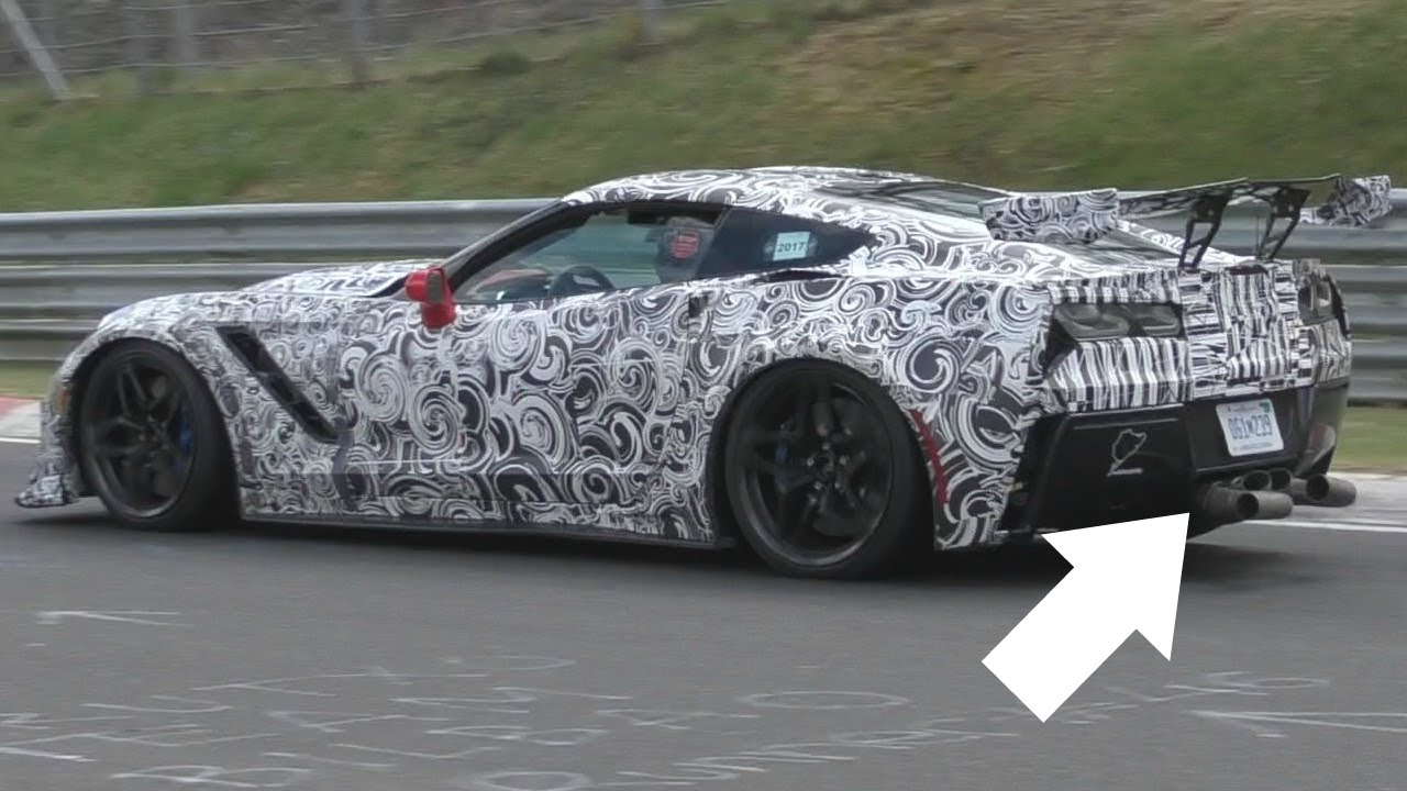 2018 Corvette Zr1 Too Loud For The Nürburgring Shoots Flames