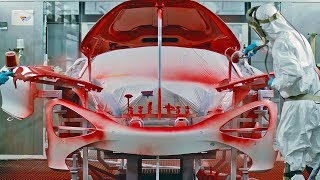 Every car is hand-assembled at the McLaren Production Centre in Wok...