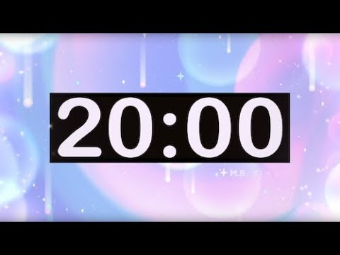 20 Minute Timer With Electronic Music! Timer For Kids With Inspiring, EDM, Positive, Uplifting Music