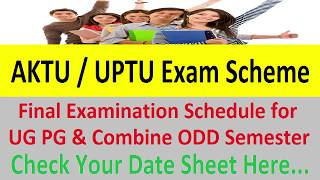 AKTU / UPTU Time Table for Under & Post Graduate Courses