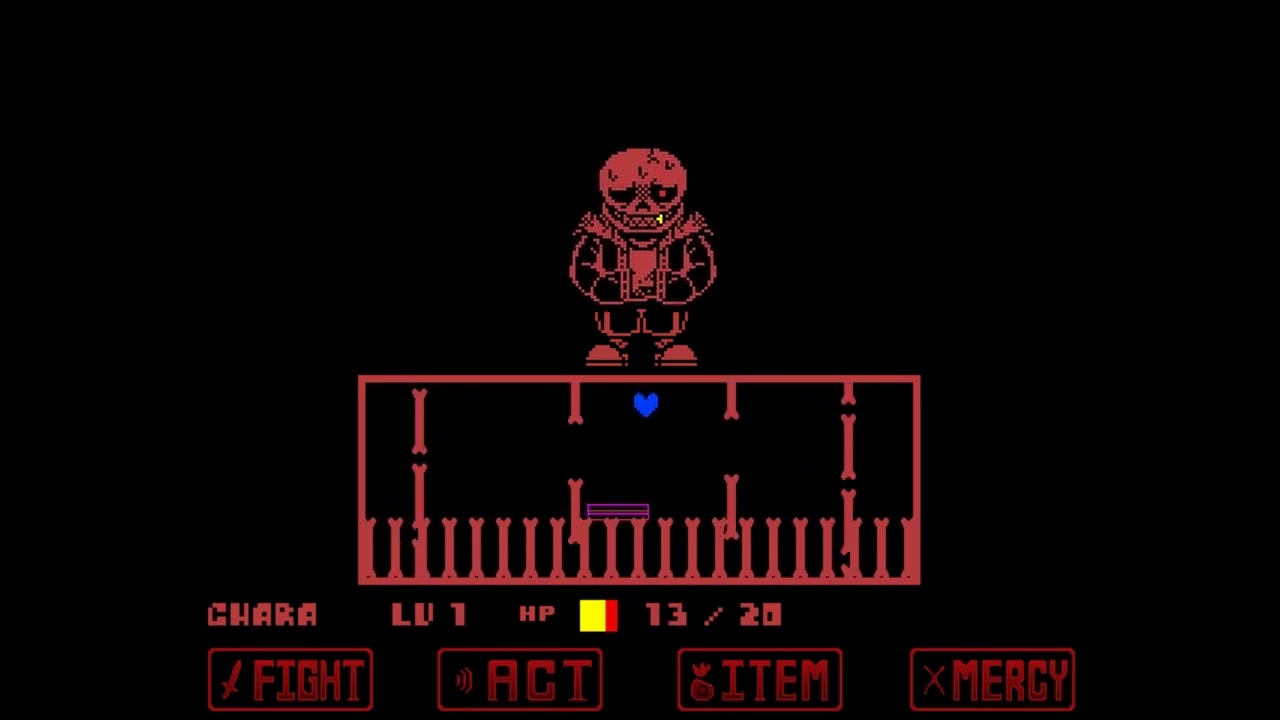 Other ver underfell Pルート サンズ戦 [Demo,undertaleファンゲーム]