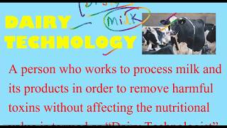Career In Dairy Technology? & Dairy Technology Course? Best College for Dairy Technology Courses?