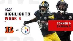 Conner & Samuels Combine for 257 Total Yards!   NFL 2019 Highlights