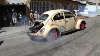 Fusca Motor De Audi 1.8 Turbo - Borrachão Burnout - #Fuscaudi #Lelloamaralcanal