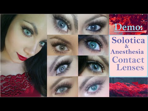 Demo Solotica New Opacity Amp Anesthesia Contact Lenses
