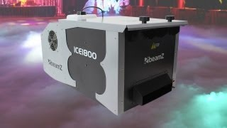 Beamz ICE1800 Low Fog Dry Ice Effect Smoke Machine 1800W Stage DJ Party