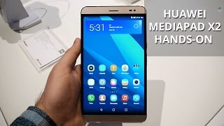 Huawei MediaPad X2 hands-on(Is it a phone or is it a tablet? The Huawei MediaPad X2 is a new 7-inch device with a 16GB model with 2 gigs of RAM (the more affordable one), and a 32GB ..., 2015-03-04T11:15:42.000Z)