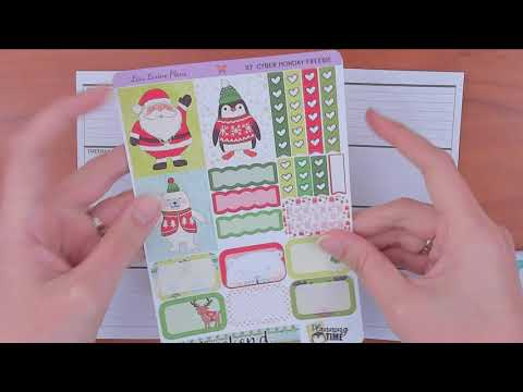 Mini Happy planner Plan with Me December 10-16 featuring LisaLorenePlans