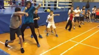Бокс новички первое занятие ФОК Гелиос Boxing beginners first lesson Helios