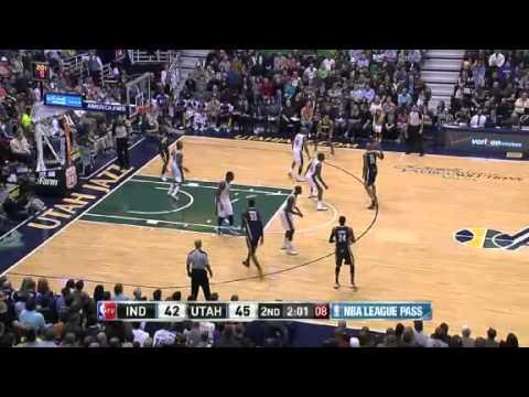 Pacers vs. Jazz: First half  | NBA 2012-13 Season 26/01/2013