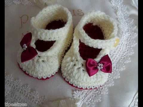 Easy Crochet Stylish And Elegant Baby Booties Knitting Patterns ...