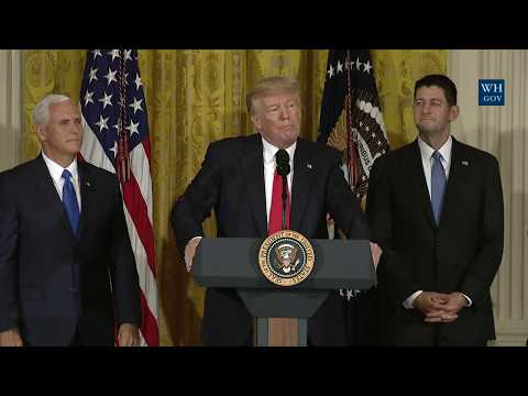 President Trump Participates in a Jobs Announcement