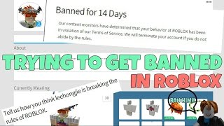 TRYING TO GET BANNED IN ROBLOX?!